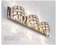 Modern minimalist LED lights Crystal Mirror bathroom bedroom bedside wall lamp lighting DIY  Yj53