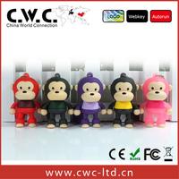 Free shipping cartoon standing's monkey cute flash drive