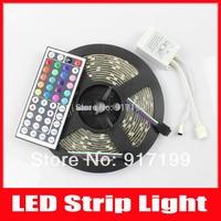 RGB LED Strip 5050 Waterproof Flexible Light 5M 300 Led SMD + 44 Keys IR Remote Controller ,FREE SHIPPING