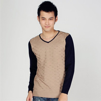 New Arrival Winter Warm Men's Long Sleeve V-Neck Cashmere Sweater Pullovers Jumpers Free Shipping Size