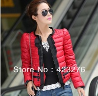 E FREE SHIPPING Slim down cotton-padded jacket women's winter outerwear short design cotton-padded jacket wadded jacket C1008