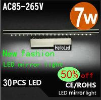55CM 7W Modern Stainless Steel Energy-Saving High-End LED Wall Light Bathroom Mirror Front Lamp Minimalist Lighting cc23
