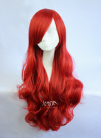 Multicolor anime cosplay curly hair big wave 100% nylon hair wigs special offer free shipping