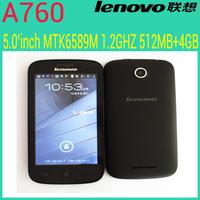 "Original Lenovo A760 Qualcomm quad core mobile phone 4.5"" 854*480 screen 1GB RAM 4GB Android 4.1 5.0mp GPS Russia multi language"