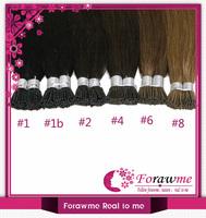 Brazilian PreBonded hair extensions Human hair staight stick hair I tip keratin hair extensions 100g(1g/strand) #2 #6 #8 #10