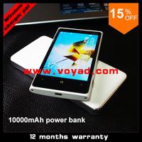 Wholesale Qi Wireless Charger Power Bank (5pcs/lot) Charging 5VUSB 8000mAh Cell Phone Power Bank  DHL free shipping