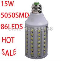 Free shipping AC 220V 15W 86LED 5050 SMD E27 E14 Corn Bulb Light Maize Lamp LED Light Bulb Lamp LED Lighting Warm/Cold White