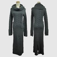 Autumn Sweaters Long Dress Women Fashion Maxi Dresses Winter Women Bandage Leggings Fall Dresses Clothing SRWD1007