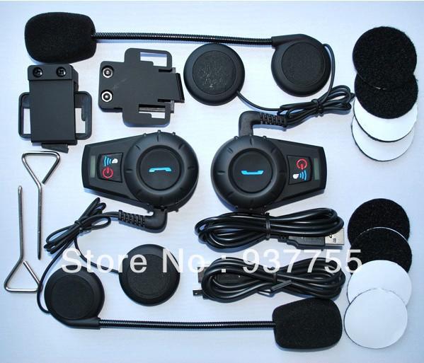 Neue heiße besten preis 2 x bt interphone bluetooth motorrad motorradhelm intercom headset 500m mode, Schönheit kostenloserversand