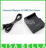 50pcs/lot LC-E8C LCE8C LC E8C Camera Charger For Canon digital camera Li-ion Battery LP-E8 EOS 550D 600D