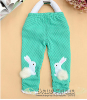 Free Shipping  Small Dot Cute Rabbit  Comfortable Leggings For Kids Girls Wholesale 4 Pieces /Lot