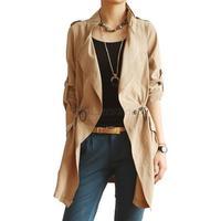 Free&Drop Shipping Chic Women Casual Trench Cardigan Slim Coat Outwear HR718
