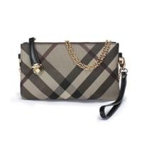 New 2013 fashion plaid genuine leather women's wallet clutch bag women leather handbag messenger bag coin purse small chain bag