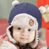2013 Winter Lovely Baby Hats  Kids Skullies & Beanies Child Earflap Caps Pocket Hats Ear Protector For Baby 1-3 Years