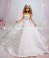 FREE SHIPPING Hot sell girls's gift luxurious wedding dress clothes for barbie doll - Item no.72 *2