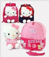 Retail- Hello Kitty baby cotton toys removable anti-lost double-shoulder kindergarten baby schoolbag kids backpack