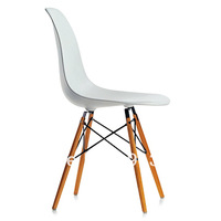 TOP Quality Designer Eames DAW Plastic wooden Dining Lounge Office Chairs ergonomic chair,White Edition