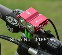 RED 5000Lm 2x CREE XM-L U2 LED Bicycle bike Light HeadLight Lamp Flashlight