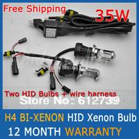 H4 BI-XENON HID xenon bulb 35W  H4 12V HID Automotive Headlight Replacement Bulbs H4-3 BiXenon Hi/Lo Beam Lamp