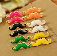 0293 Min. order $10 (mix order) Free shipping New arrival vintage sexy mustache cute beard stud earrings for women