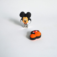 Best Selling Cute Flash Drives Mickey Mouse Lanyard Pen Drive 32gb Usb 3.0 Pvc Memory Stick a Gift for the New Year Wholesale