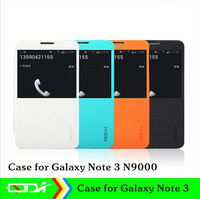 Leather PU cover with back cover case for samsung galaxy note 3 n9000, View window phone case for Note3, N9000.