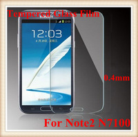 Premium Tempered Glass Screen Protector Film Guard For Samsung Note2 N7100 With Retail Package 5pcs/lot Freeshipping