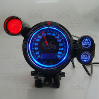 MOFE SPECIAL OFFER Original Logo With Red Shift Light + Blue LED LCD 80MM MPH Lamp Odometer Speedo Speedometer Car Gauge Meter