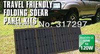 Free Shipping 100W Solar Panel Monocrystalline Solar Cell Folding Solar Charger for Laptop/Computer/12V Batteries