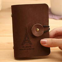A 3202 Min. order $10 (mix order) Free shipping vintage cards holders romantic eiffel tower buckle 20 card place bank card