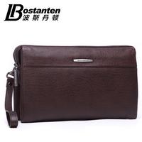 BOSTANTEN 2014 new male cowhide day clutch wallet Genuine leather men's day clutch bag handbag b20551