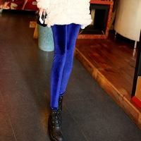 2013 autumn gold velvet legging ankle length trousers fashion trousers female trousers\to my shop have a surprise