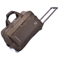 Water-resistant folding trolley bag portable large capacity trolley travel bag outdoor rolling travel bag with wheels