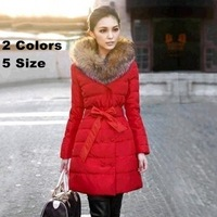 2013 Luxury Brand Fashion Women's Long Winter Duck Down Coat,Woman Fur Coats And Jackets,Down Parkas For Women,Free Shipping