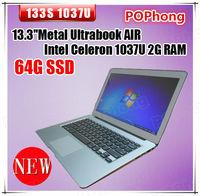 Aluminum Alloy Air 13.3 inch Ultrabook 2G 64G Intel Celeron 1037 1.8GHz Windows 8