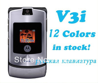 In stock!!! Razr v3i 100% Original Unlocked mobile phone have Russian keyboard and Free shipping