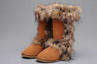 Free shipping fashion fur snow boots women designer women winter australia boots for women 2014
