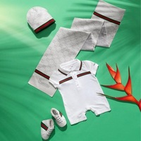 Retail Christmas Baby Boys Clothing Set 2PCS Children Clothes for Newborns tracksuits romper fashion 2014 free shipping sale