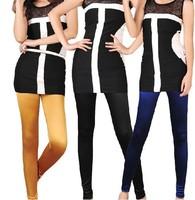 Satin imitation silk nine Legging pants glossy trousers