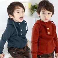 2014 hoodies boys Sweater Sweatshirts kids hoodies Solid winter children's clothing for sale KC1318