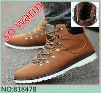 Classic Metal button Design Men Winter Warm Shoes Eu 39-44 Add Natural Wool Man Outdoor Fashion Sneakers Free Shipping    2009