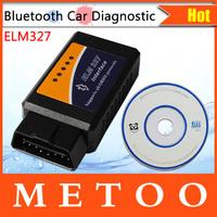 ELM327 Professional Diagnostic Tool OBD2 OBD-II ELM327 ELM 327 V1.5 Bluetooth Car Diagnostic Interface Scanner Works On Android
