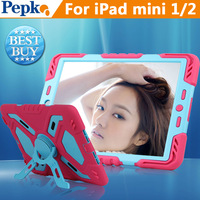 Pepkoo cases for iPad 2 3 4 Military Stand Clip Cover stik to wall Defender 2nd Generation wind rain water dirt shock proof