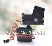 1set 2 DOF Short Pan And Tilt Servos Bracket Sensor Mount Kit For Robot Arduino Compatible MG995 Wholesale Retail Free Shipping