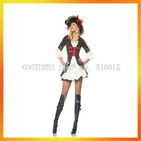 Hot!!! Sexy lady csotumes party carnival women pirate costumes for retail AEWC-2007