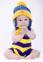 Children Knitted Hatswarm hat knitted hat Toddler Smile crochet Hat Cap Winter Ear Hat 18375