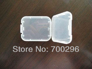 Free shipping 10pcs/lot CF Card Holder Storage Box Plastic Protector Case Cover,No tracking(China (Mainland))