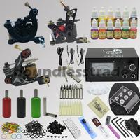 OPHIR Tattoo Kits 3 Machines Tatoo Guns Set Equiment Ink Pigment Power Supply  _TA081