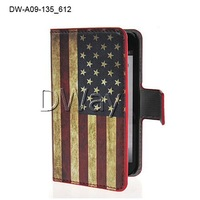 New Wallet Retro USA Flag Leather Stand Flip Skin Case Cover For LG Optimus L7 II 2 P715