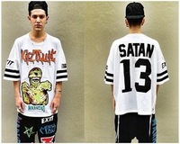 FASHION Harajuku SWAG ktz Zombie oversize short-sleeve T-shirt TEE  FREE SHIPPING